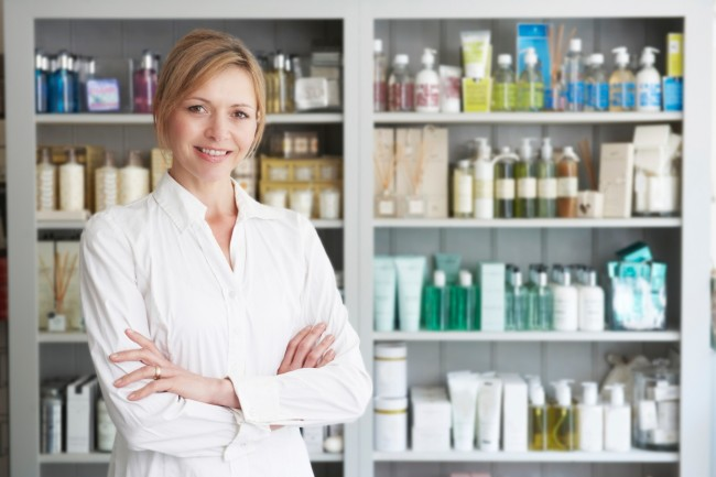 Advantage health and beauty product labels stock