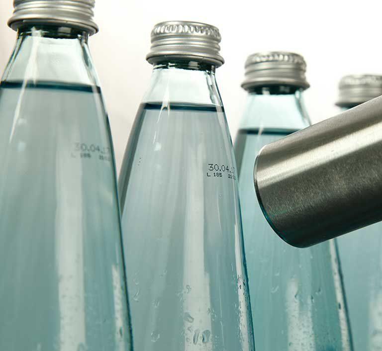 inkjet coding custom bottle labeling